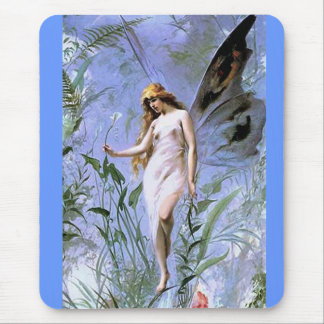 Vintage Lily Fairy Mouse Pad