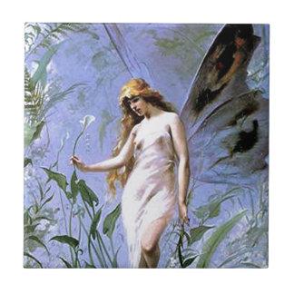 Vintage Lily Fairy Tile