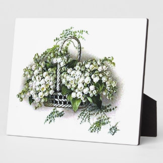 Vintage Lily of the Valley Plaque
