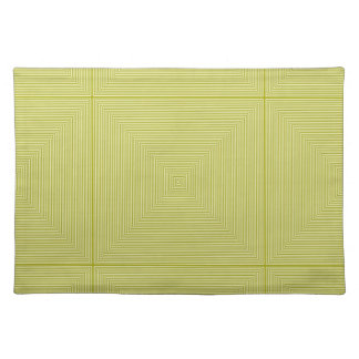 Vintage Lime Fashion Striped Square Pattern Cloth Placemat