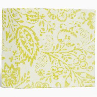 Vintage Lime Floral Binder