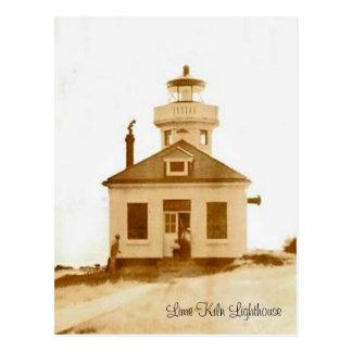 Vintage Lime Kiln Lighthouse Postcard