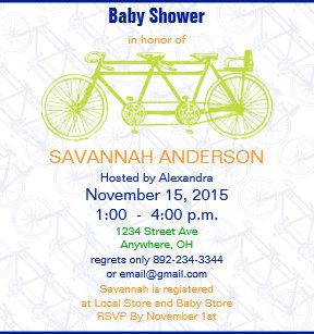 Bicycle baby shower invitations zazzle vintage lime punch bicycle baby shower invitation filmwisefo