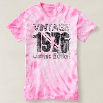 Vintage Limited Edition 1976 40th Birthday Tie-Dye T-shirt