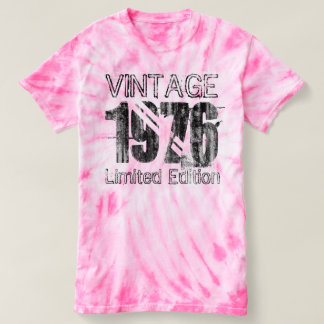 Vintage Limited Edition 1976 40th Birthday Tie-Dye T Shirts