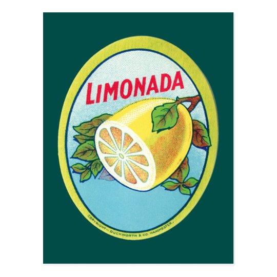 Vintage Limonada Label Postcard
