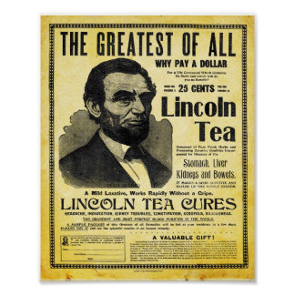 Vintage Lincoln Herbal Remedy Tea Print