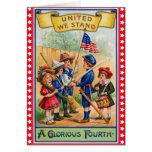 Vintage lindo 4to de la tarjeta de julio