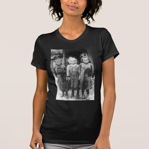 Vintage lindo Carolina del Sur de tres niñas Playera