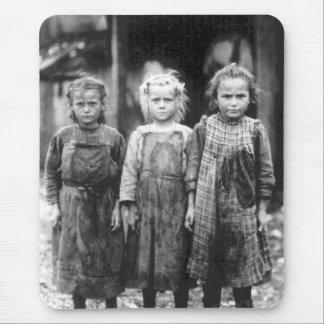 Vintage lindo Carolina del Sur de tres niñas Alfombrilla De Ratón