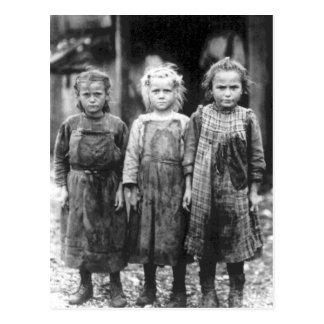 Vintage lindo Carolina del Sur de tres niñas Postales