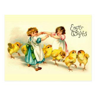 Vintage lindo feliz de Pascua del puente de Londre Postales