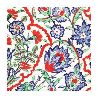 vintage lindo floral, colección casera de la impresión en lienzo estirada