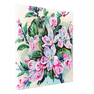 Vintage lindo floral, colecciones caseras de la impresion de lienzo