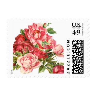 vintage lindo floral, rosas sellos