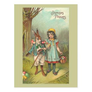 Vintage lindo Pascua de Joyeuses Pâques Postal