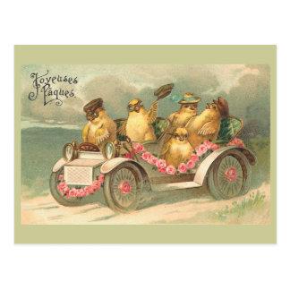 Vintage lindo Pascua de Joyeuses Pâques Tarjeta Postal