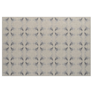 Vintage Lineart Gryphon Letterpress Fabric