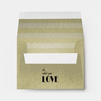 Vintage Lined Stripes | Do What You Love Envelope