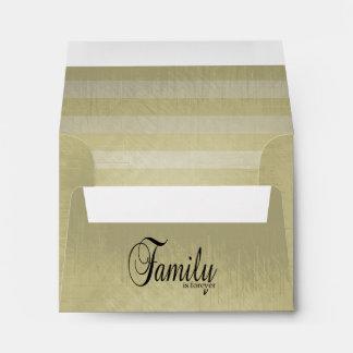 Vintage Lined Stripes | Family Is Forever Envelope