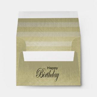 Vintage Lined Stripes | Happy Birthday Envelope