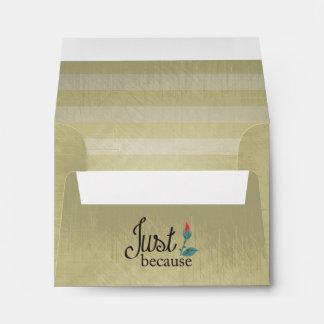 Vintage Lined Stripes | Just Because Envelope