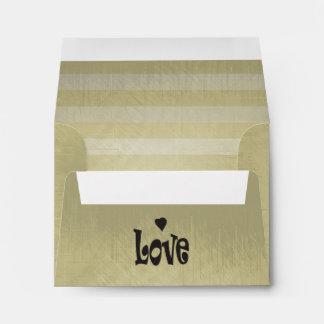 Vintage Lined Stripes | Love Envelope