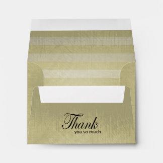 Vintage Lined Stripes | Thank You Envelope