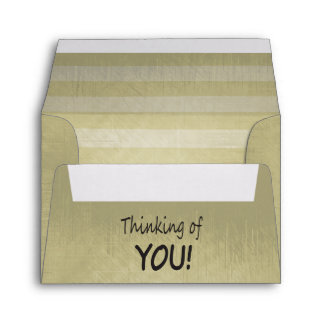 Vintage Lined Stripes | Thinking Of You Envelope