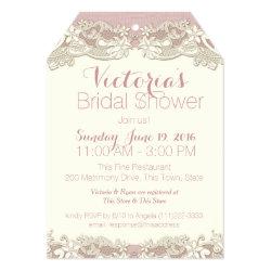 Vintage Linen and Lace Bridal Shower Card