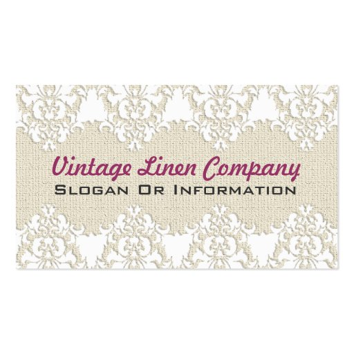Vintage Linen And Lace Business Cards