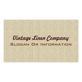 Vintage Linen Background Business Cards