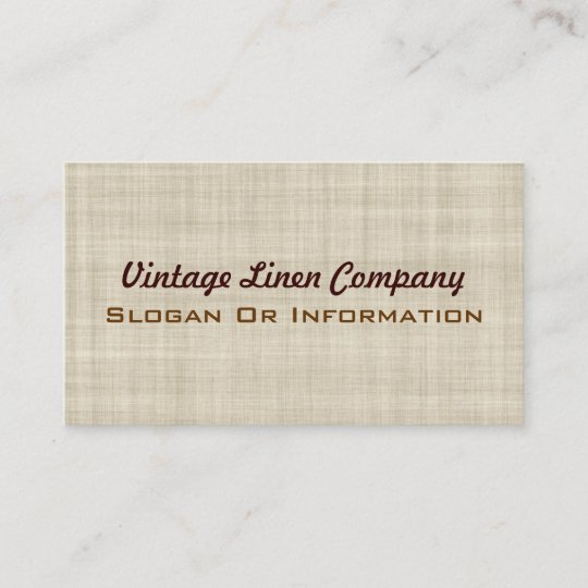 vintage linen business cards - Linen Business Cards