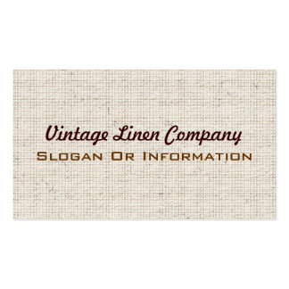 Vintage Linen Fabric Business Cards