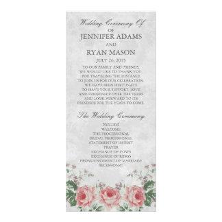 Vintage Linen Rose | Wedding Program