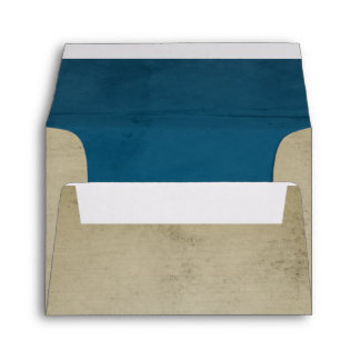 Vintage Linen with Blue Velvet A2 Envelope