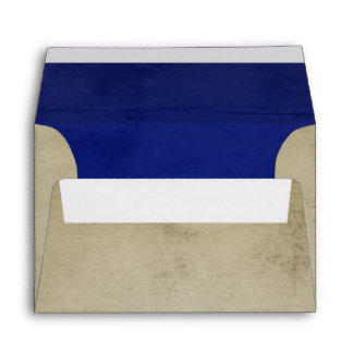 Vintage Linen with Deep Blue Velvet A6 Envelope