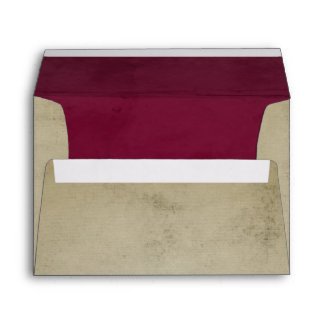Vintage Linen with Deep Pink Velvet A7 Envelope