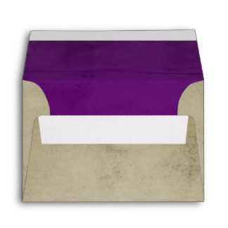 Vintage Linen with Purple Velvet A6 Envelope