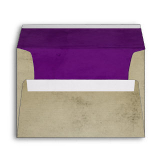 Vintage Linen with Purple Velvet A7 Envelope