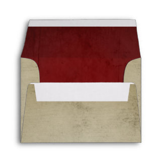 Vintage Linen with Red Velvet A2 Envelope