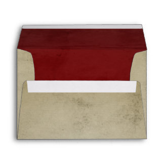 Vintage Linen with Red Velvet A7 Envelope