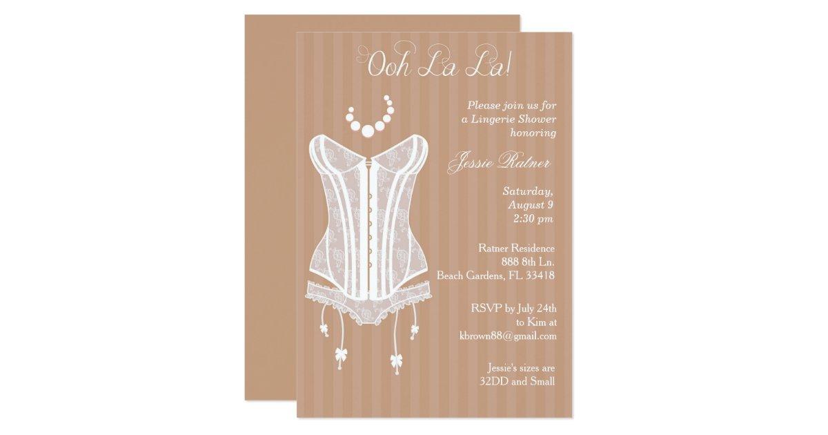 Vintage lingerie bridal shower invitations zazzle for Lingerie bridal shower invitations