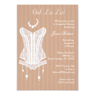 Vintage Lingerie Bridal Shower Invitations