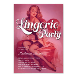 Vintage Lingerie Shower Party Invitations