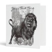 Vintage Lion Binder