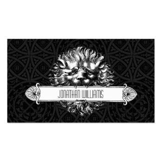 Vintage Lion Black & White Unique Business Cards Business Card Templates