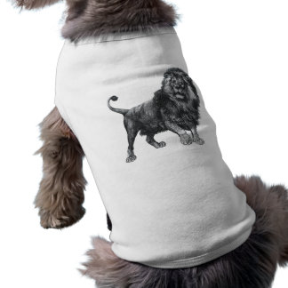 Vintage lion drawing, paw lifted looking left tee