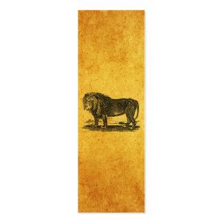 Vintage Lion Illustration -1800's African Animal Business Card Template