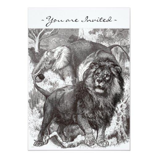 Vintage Lion Invitation